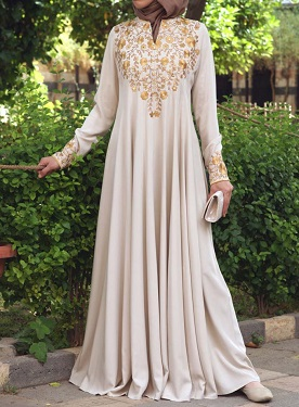 Huda Embroidered Sequins Gown